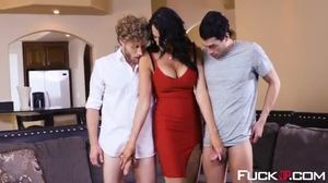 Group, Stockings, Cock, 3 some, Pornstar, Monster cock, High definition