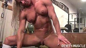Klitoris Bodybuilder ficken Große Super Große